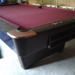 Maroon Felt Billiard Table
