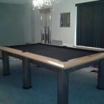 Black Felt Billiard Table