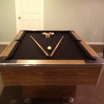 Brown Felt Billiard Table
