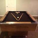 Brown Felt Billiard Table