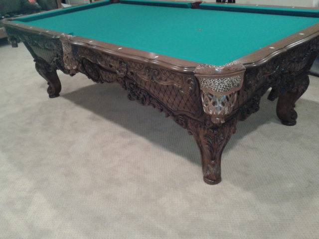 Woodwork Billiard Table 2