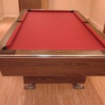 Red Felt Billiard Table 3