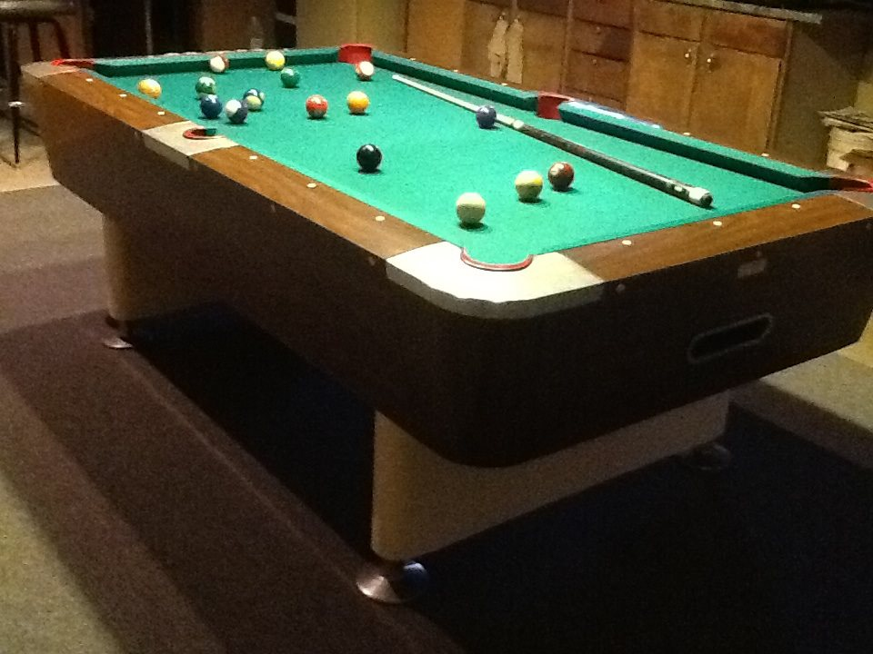 Green Felt Billiard Table 5