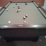 Olive Felt Billiard Table
