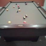 Olive Felt Billiard Table