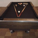 Brown Felt Billiard Table 2