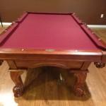 Red Felt Billiard Table