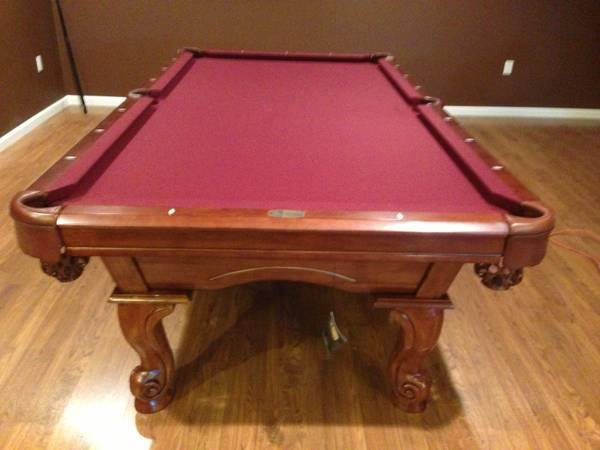 Red Felt Billiard Table